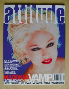 Attitude magazine - Madonna cover (August 1995 - Issue 16)