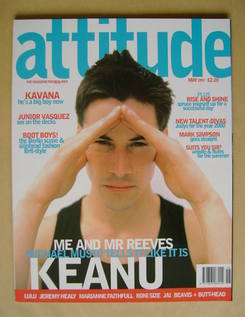 <!--1997-05-->Attitude magazine - Keanu Reeves cover (May 1997 - Issue 37)