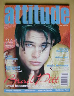 Attitude magazine - Brad Pitt cover (April 1995 - Issue 12)