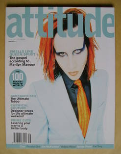 <!--1998-12-->Attitude magazine - Marilyn Manson cover (December 1998 - Iss