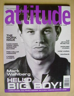 <!--1998-01-->Attitude magazine - Mark Wahlberg cover (January 1998 - Issue