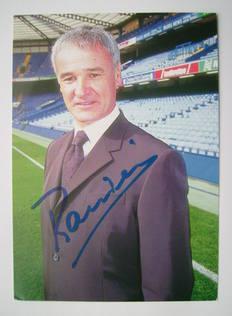 Claudio Ranieri autograph