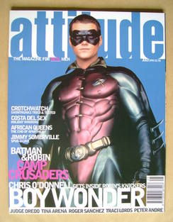 Attitude magazine - Chris O'Donnell cover (July 1995 - Issue 15)