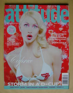 <!--1997-07-->Attitude magazine - Caprice cover (July 1997 - Issue 39)