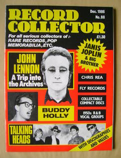 Record Collector - December 1986 - Issue 88