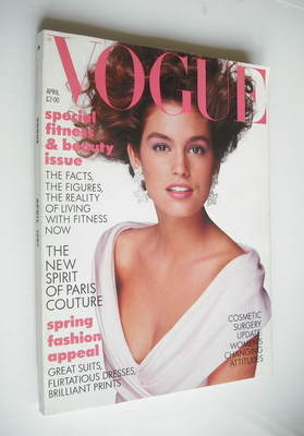 <!--1987-04-->British Vogue magazine - April 1987 - Cindy Crawford cover