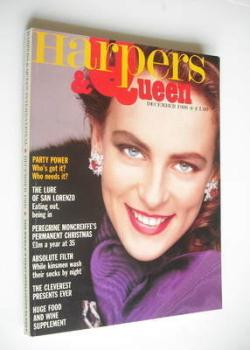 British Harpers & Queen magazine - December 1986