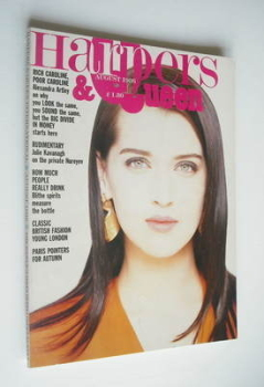 British Harpers & Queen magazine - August 1986