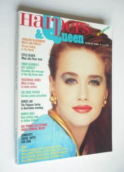 British Harpers & Queen magazine - March 1986