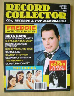 Record Collector - Freddie Mercury cover (July 1999 - Issue 239)