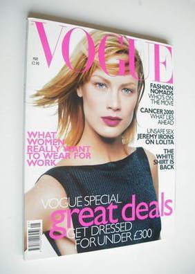 <!--1998-05-->British Vogue magazine - May 1998 - Carolyn Murphy cover