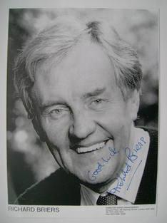 Richard Briers autograph