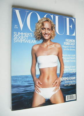 <!--1998-07-->British Vogue magazine - July 1998 - Amber Valletta cover