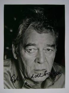 Edward de Souza autograph (hand-signed photograph)