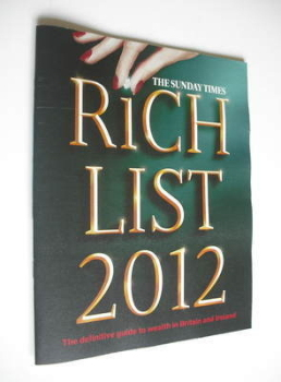 <!--2012-->The Sunday Times Rich List 2012 magazine