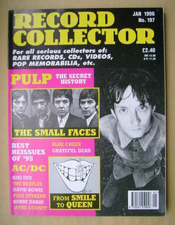 Record Collector - Jarvis Cocker cover (January 1996 - Issue 197)
