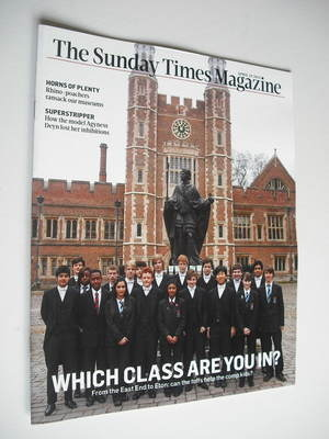 <!--2012-04-29-->The Sunday Times magazine - Which Class Are You In cover (