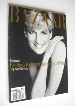 Harper's Bazaar magazine - December 1995 - Princess Diana cover