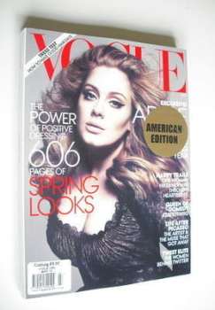 US Vogue magazine - March 2012 - Adele cover