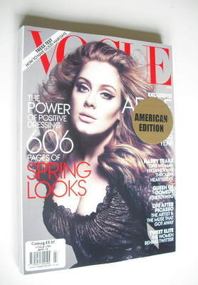 <!--2012-03-->US Vogue magazine - March 2012 - Adele cover