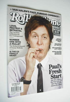 Rolling Stone magazine - Paul McCartney cover (1 March 2012 - Issue 1151)