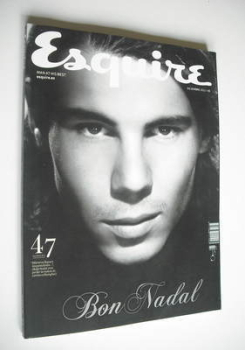 Esquire magazine - Rafael Nadal cover (December 2011 - Spanish Edition)