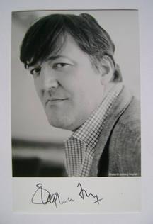 Stephen Fry autograph