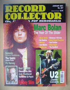 Record Collector - Marc Bolan cover (January 2001 - Issue 257)