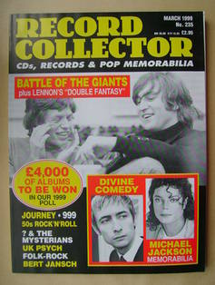 Record Collector - Mick Jagger and John Lennon cover (March 1999 - Issue 23
