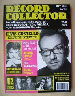 Record Collector - Elvis Costello cover (September 1995 - Issue 193)