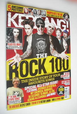 <!--2012-04-14-->Kerrang magazine - The Rock 100 cover (14 April 2012 - Iss