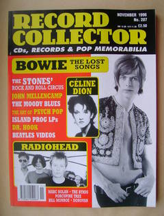 Record Collector - David Bowie cover (November 1996 - Issue 207)