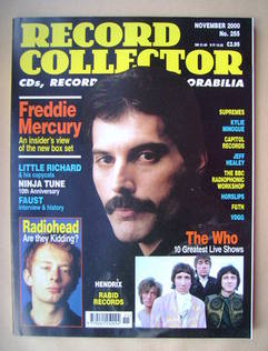 Record Collector - Freddie Mercury cover (November 2000 - Issue 255)