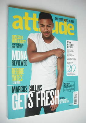 <!--2012-04-->Attitude magazine - Marcus Collins cover (April 2012)