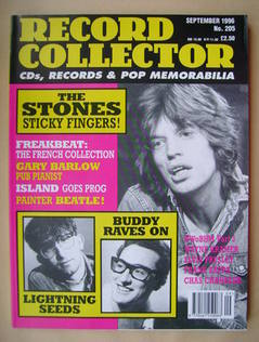 Record Collector - Mick Jagger cover (September 1996 - Issue 205)