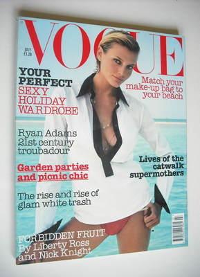 <!--2002-07-->British Vogue magazine - July 2002 - Bridget Hall cover