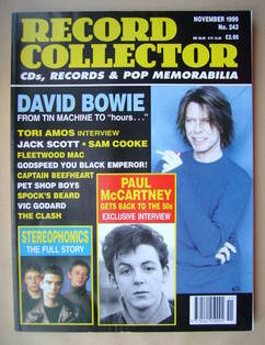 Record Collector - David Bowie cover (November 1999 - Issue 243)