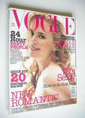<!--2002-04-->British Vogue magazine - April 2002 - Nicole Kidman cover