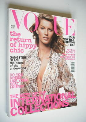 <!--2002-03-->British Vogue magazine - March 2002 - Gisele Bundchen cover