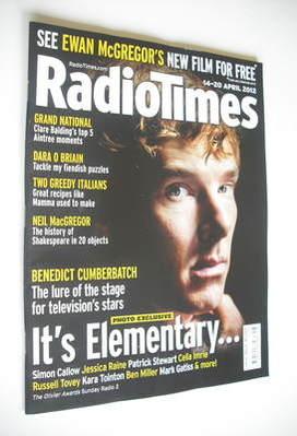 <!--2012-04-14-->Radio Times magazine - Benedict Cumberbatch cover (14-20 A