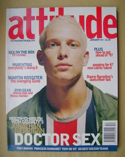 <!--1997-01-->Attitude magazine - Jonathan Kerrigan cover (January 1997 - I