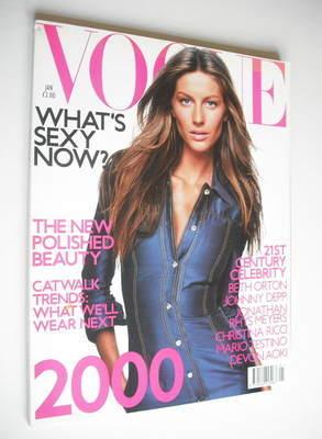 <!--2000-01-->British Vogue magazine - January 2000 - Gisele Bundchen cover
