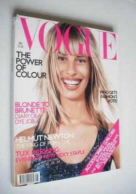 <!--2001-05-->British Vogue magazine - May 2001 - Karolina Kurkova cover