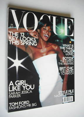 <!--2001-02-->British Vogue magazine - February 2001 - Naomi Campbell cover