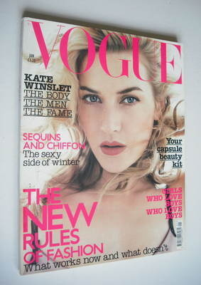 <!--2003-01-->British Vogue magazine - January 2003 - Kate Winslet cover