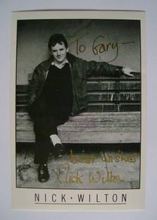 Nick Wilton autograph