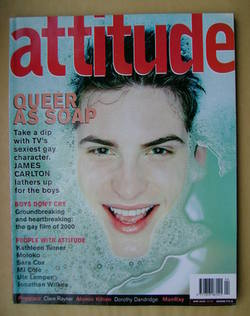 <!--2000-04-->Attitude magazine - James Carlton cover (April 2000 - Issue 7