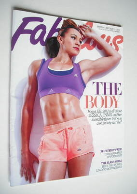 <!--2012-04-08-->Fabulous magazine - Jessica Ennis cover (8 April 2012)