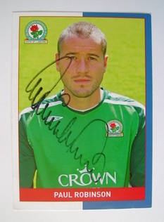 Paul Robinson (goalkeeper) autographed photo