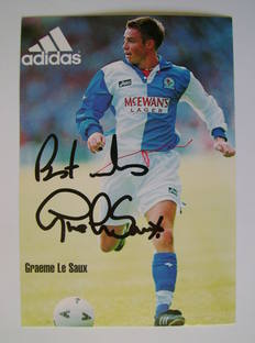 Graeme Le Saux autographed photo